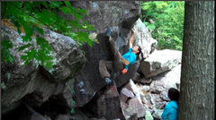 Rock Climbing Photo: Snagging the toe hook