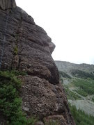 Rock Climbing Photo: Ames Way is where the rope is and Skylight is on t...