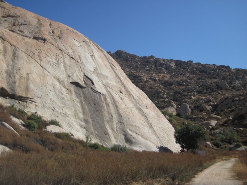 shot of the Big Rock climbing area looking south