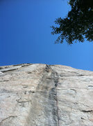 Rock Climbing Photo: husband leading our first lead climb up the Trough...