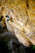 Rock Climbing Photo: Stefan lavender climbing on EkV 12c in Ten sleep, ...