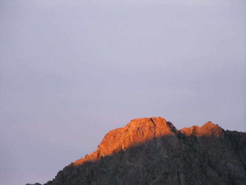 First light on this peak?
