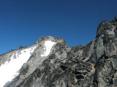 Rock Climbing Photo: The real summit of Stuart viewed from the false su...