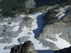 Rock Climbing Photo: N. side glaciers viewed from summit of Mt. Stuart