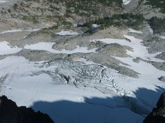 Rock Climbing Photo: N. side glaciers viewed from the summit of Mt. Stu...