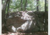Rock Climbing Photo: The boulder from the trail