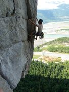 Rock Climbing Photo: Jeremy B. on the Autoban traverse pitch...