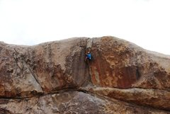 Rock Climbing Photo: getting in the layback