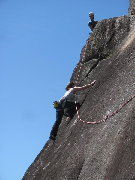 Rock Climbing Photo: Traversing the sticky granite
