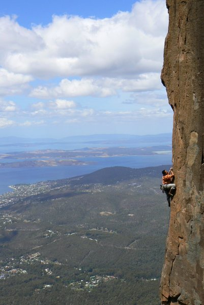 Rock Climbing Photo: After Midnight on Mt Wellington, Hobart, Tassie