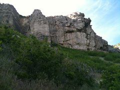 Rock Climbing Photo: The original wall is located on the middle tower o...