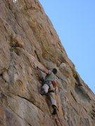 Rock Climbing Photo: Chris Owen leading, photo by Manila Angileri.