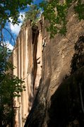 Rock Climbing Photo: Thin crimps and a sequence through the crux of Bla...
