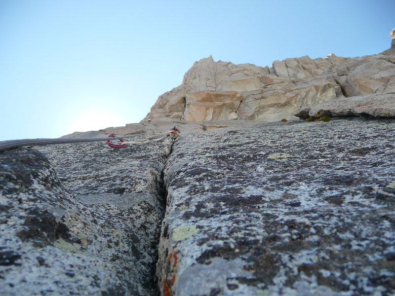 Looking up at pitch 4.