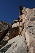 Rock Climbing Photo: The climb with the FA party on it just after the r...