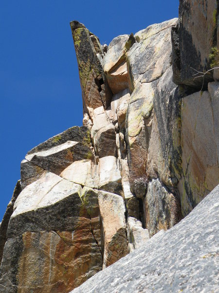 Rock Climbing Photo: The roof at the top.