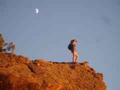 Rock Climbing Photo: Enjoying an epic view !