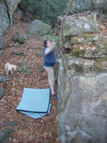 Rock Climbing Photo: V1 Dyno at Granite City, NC