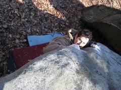 Rock Climbing Photo: Cad Bane V2/3 at Jedi Boulders
