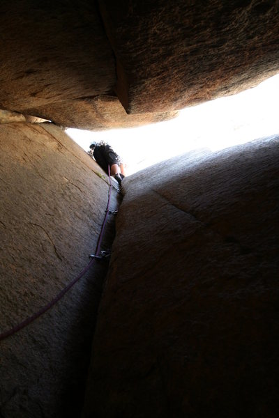 M. Carnes on the first ascent.