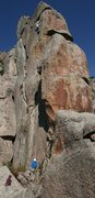 Rock Climbing Photo: Matt Coffman trying not to pump out on the second ...