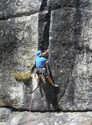 Rock Climbing Photo: Placing the first piece on Memo From Lloyd.  Fri 2...