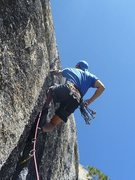 Rock Climbing Photo: Leading up Memo From Lloyd.  Fri 2 Sep 2011.