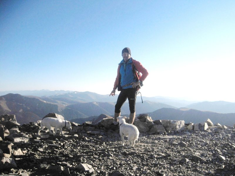 Summit of Grays Peak 14270' 7.15am