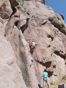 Rock Climbing Photo: Andrew starting Keemosabe