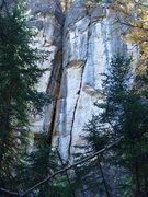 Rock Climbing Photo: Holy Slit!
