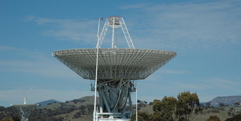 NASA Deep Space Station 43 at Tidbinbilla, Australia.