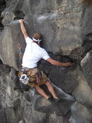 Rock Climbing Photo: Spencer making one of the many fun moves on Fire I...