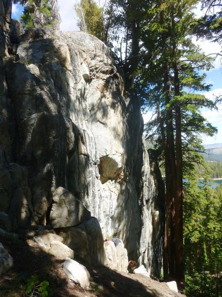 Rock Climbing Photo: The steep central section of Stream Wall