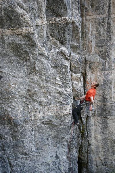 Rock Climbing Photo: Starting up 'Arretez-vous' (11a/12b). Photo: S. Gi...