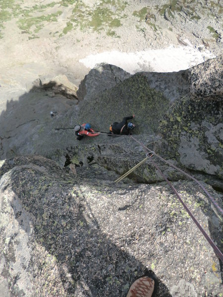 Rock Climbing Photo: Lisa G. and Lisa. S simul-climbing the last pitch ...