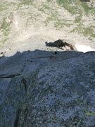 Rock Climbing Photo: Leaving the Barb flake belay, 2nd to last pitch.