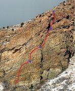 Rock Climbing Photo: Ana Route