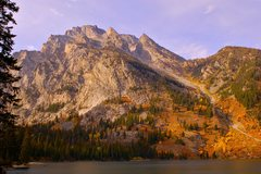 Rock Climbing Photo: Mt. Moran from Leigh Lake, with the East and West ...