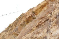 Rock Climbing Photo: I liked this climb a lot. Chalking up for the crux...