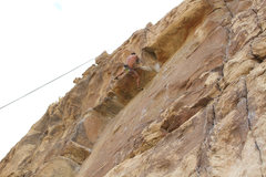 Rock Climbing Photo: Pull the roof!