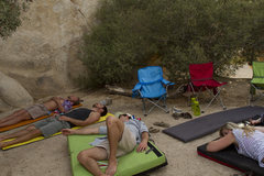 Rock Climbing Photo: Finding afternoon shade in HVCG during a spicy sum...