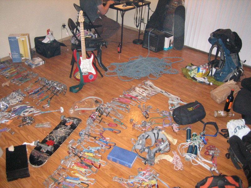 Rock Climbing Photo: A random photo of my Vegas living room apartment. ...