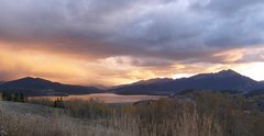 Rock Climbing Photo: Sunset over the Tenmile Range, Quandary is at the ...