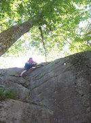 Rock Climbing Photo: Last move on CC