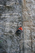 """Rock Climbing Photo: Finishing up the first """"pitch"""" of 'Arret..."""