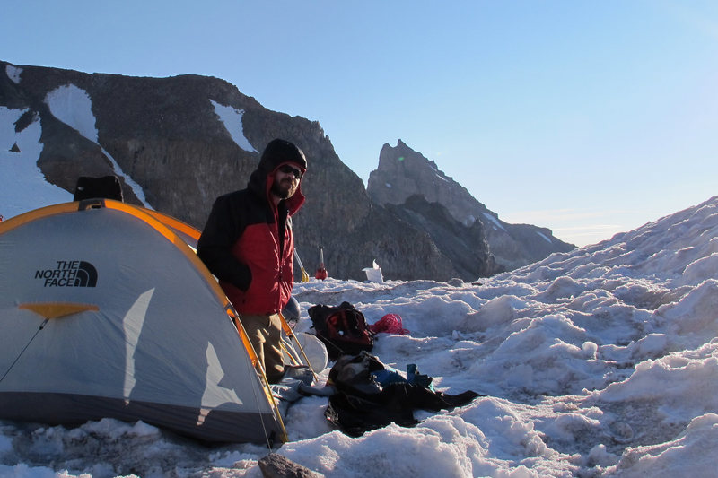 Rock Climbing Photo: at camp Muir on Rainier