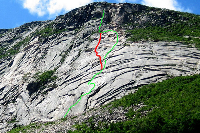 Rock Climbing Photo: the red line is closer but not perfect... id love ...