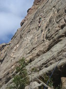 Rock Climbing Photo: Carl Brockhoff leading Rumple Teaser.