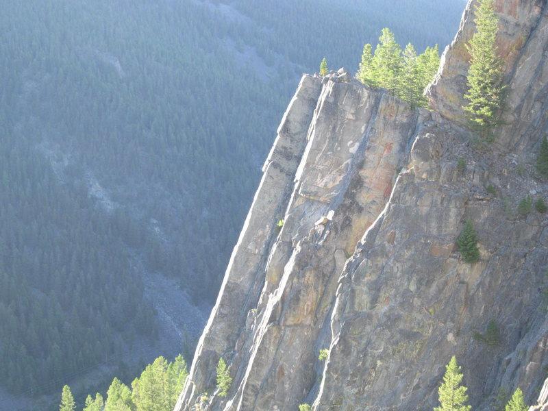 climbers on spare rib (5.8)