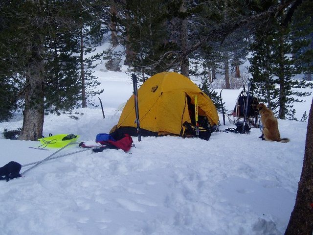 Basecamp at Mosquito Flat